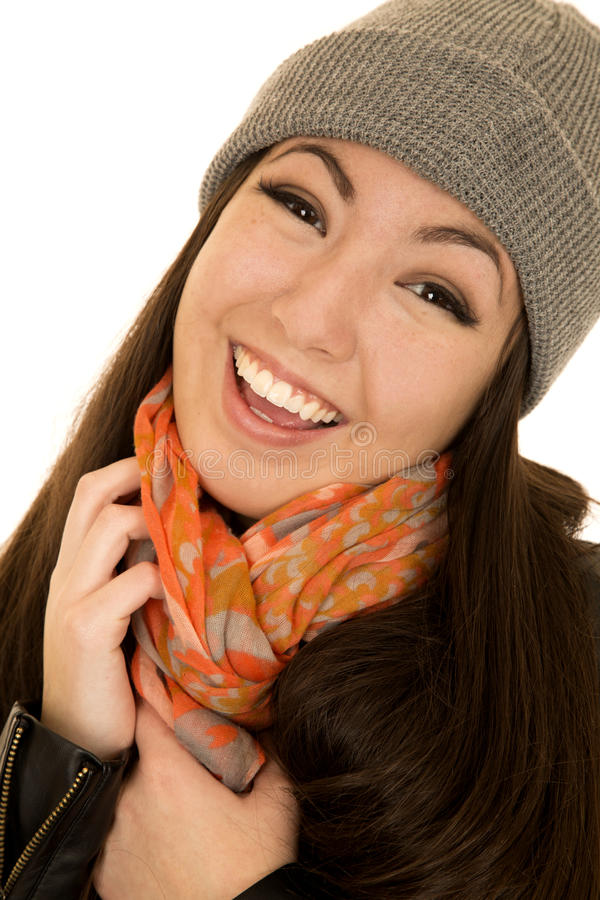 Beautiful asian american teen