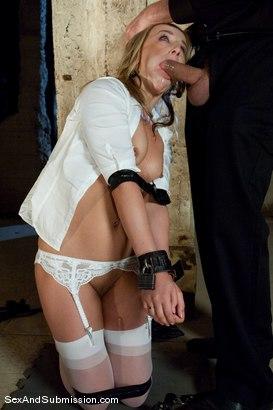 Helpless bondage slut