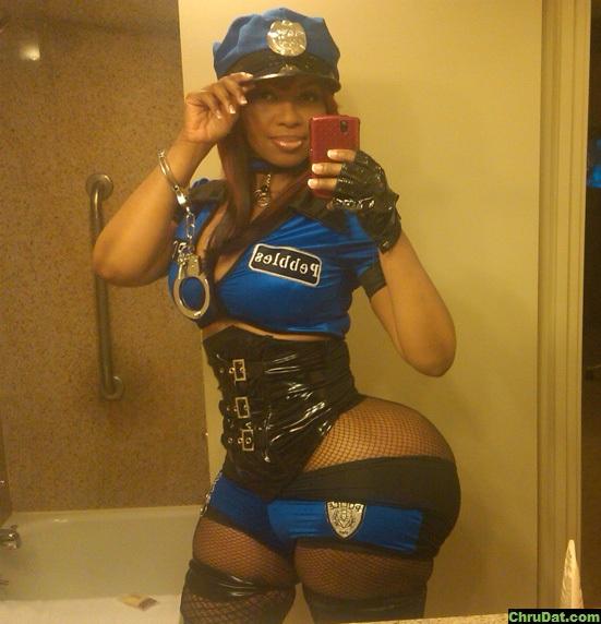 Big ass booty in uniform