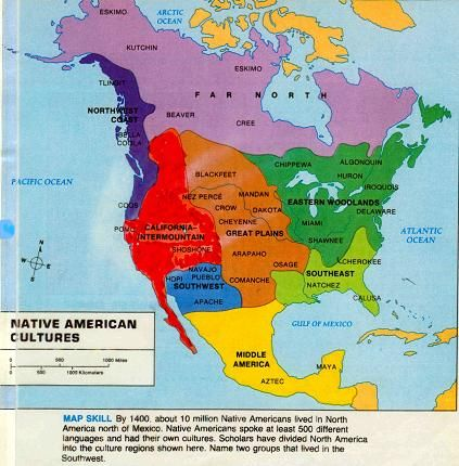tribes Native american map indian