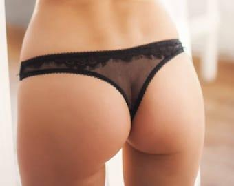 Milf white thong panties