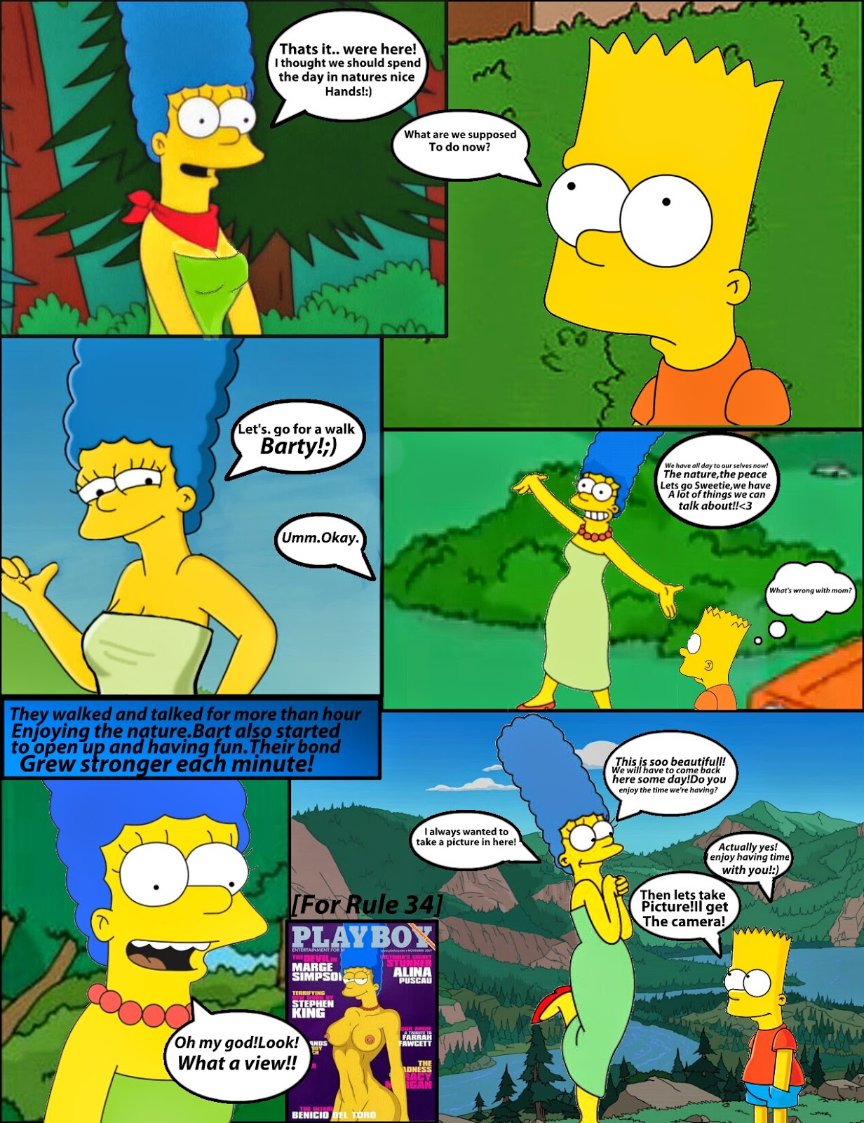 Marge and bart simpson porn comics