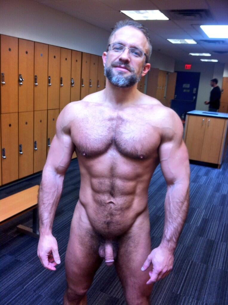 Are old man naked locker room have faced