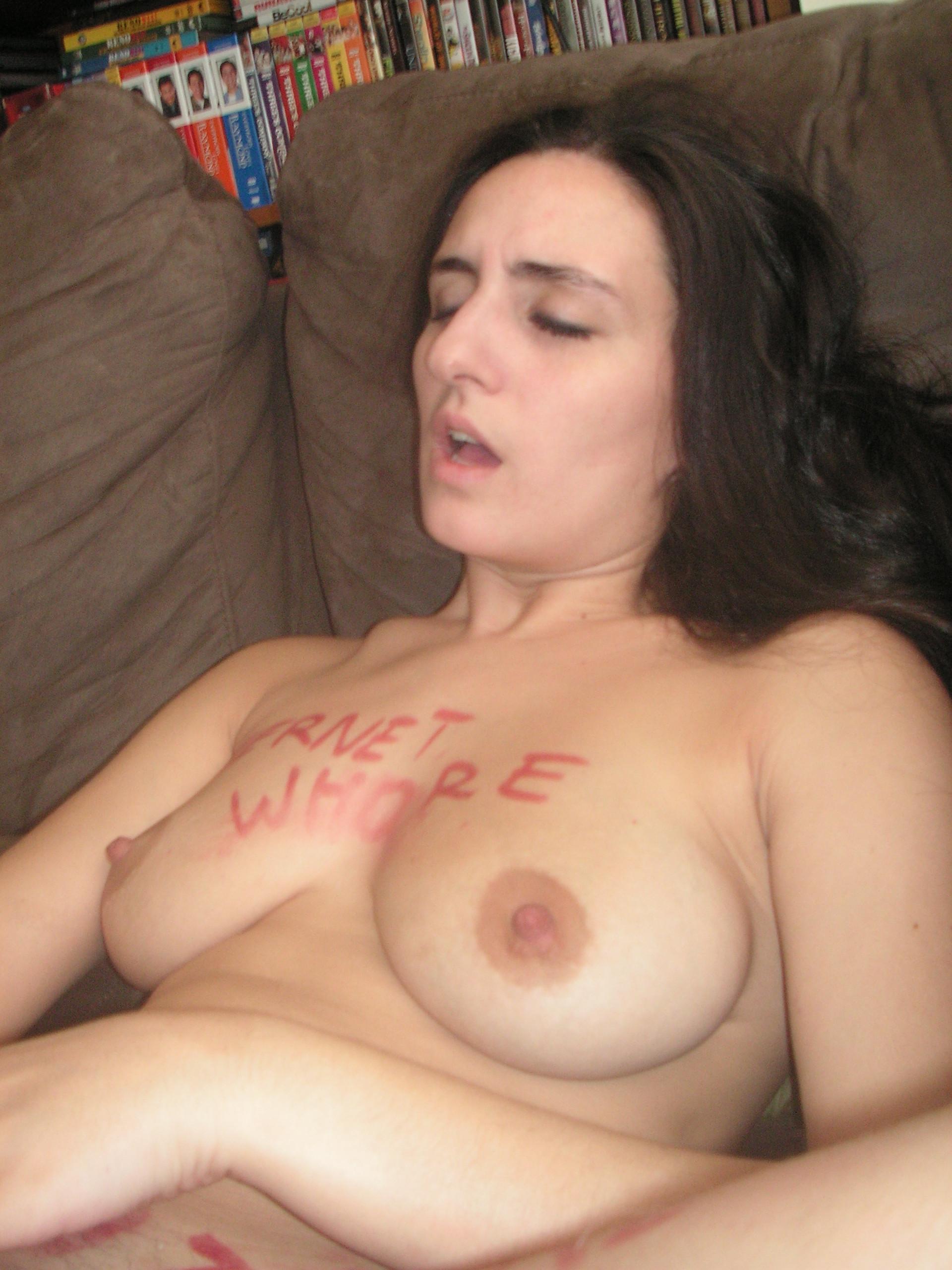 amateur Busty nude brunette