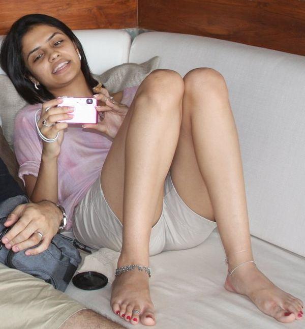 Indian aunty feet