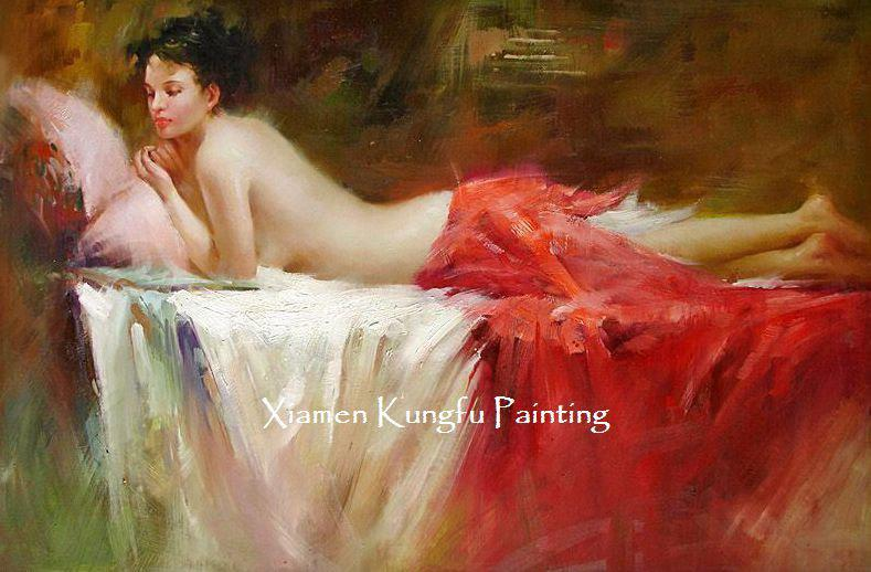 oil Beautiful painting woman