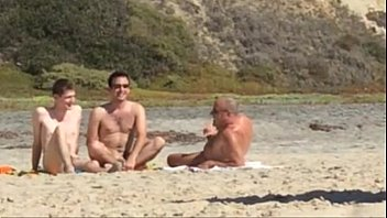 Shemale nudist at public beach
