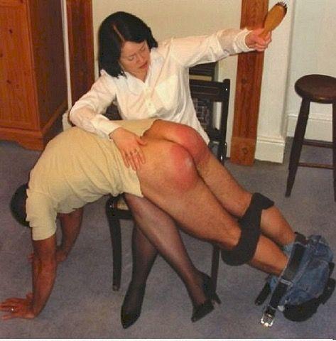 Femdom naughty boy spanking