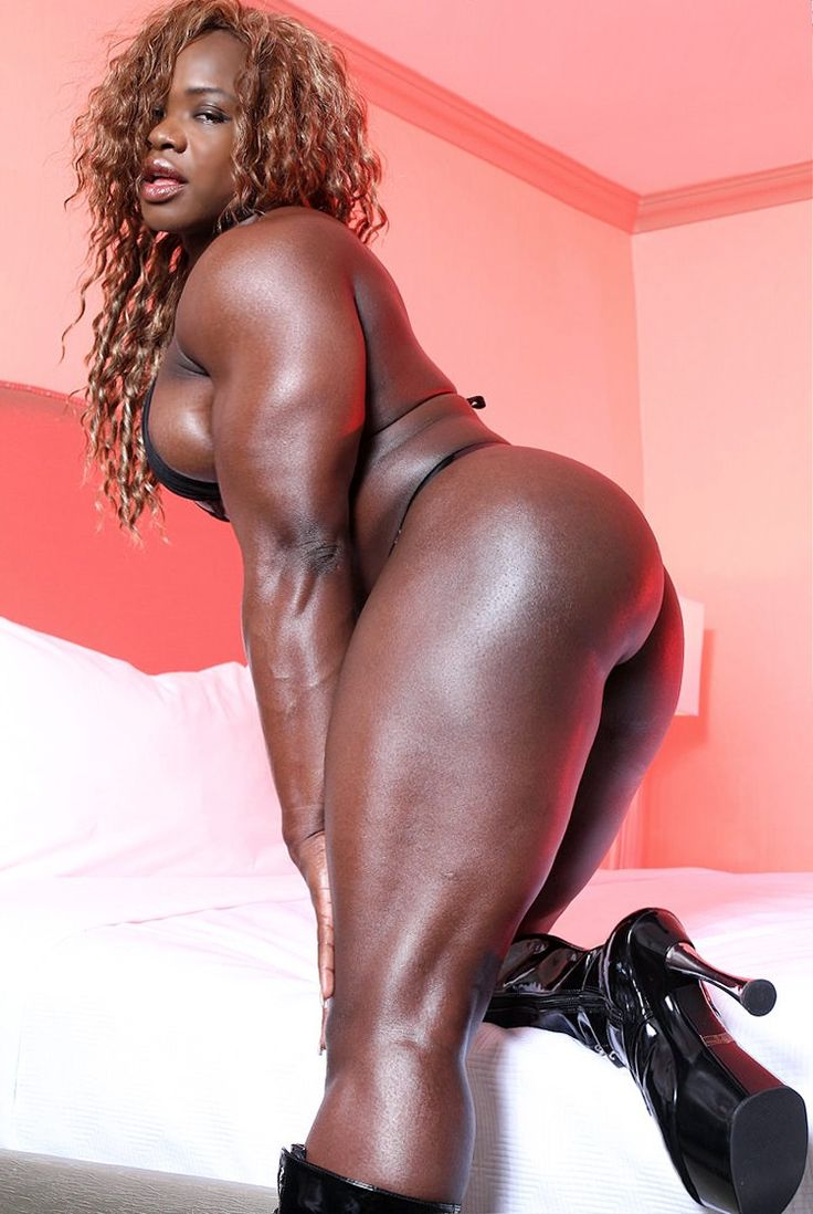 Women Muscle Black Nude#1