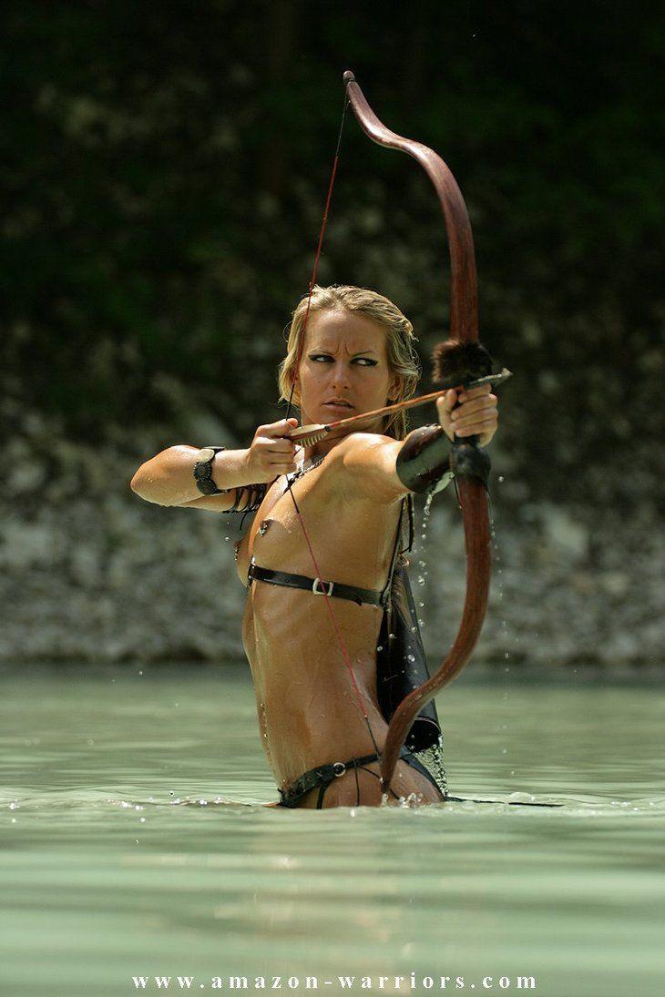 Nude amazon woman warrior