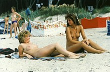 German women nude on beach