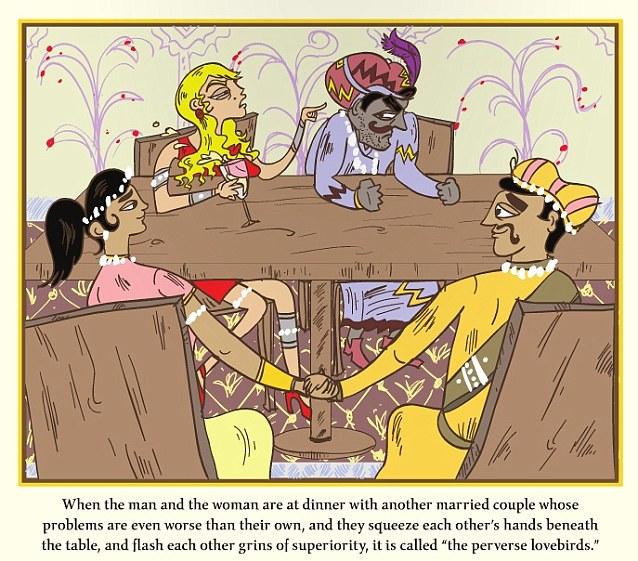 Cartoon kama sutra sex position illustration