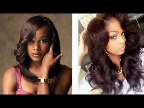 Long weave hairstyles for black women