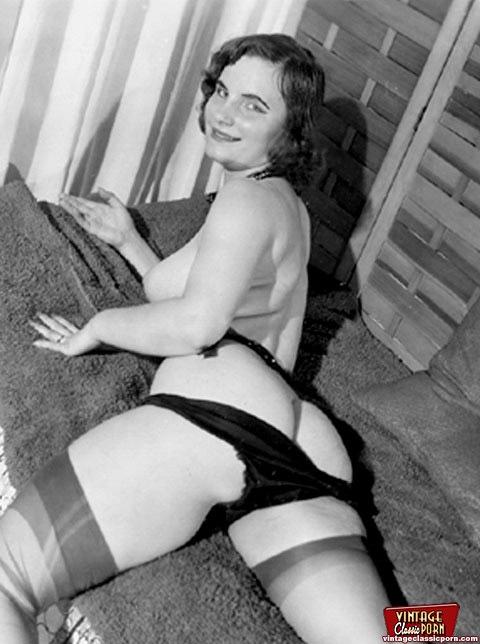 vintage porn Retro stocking