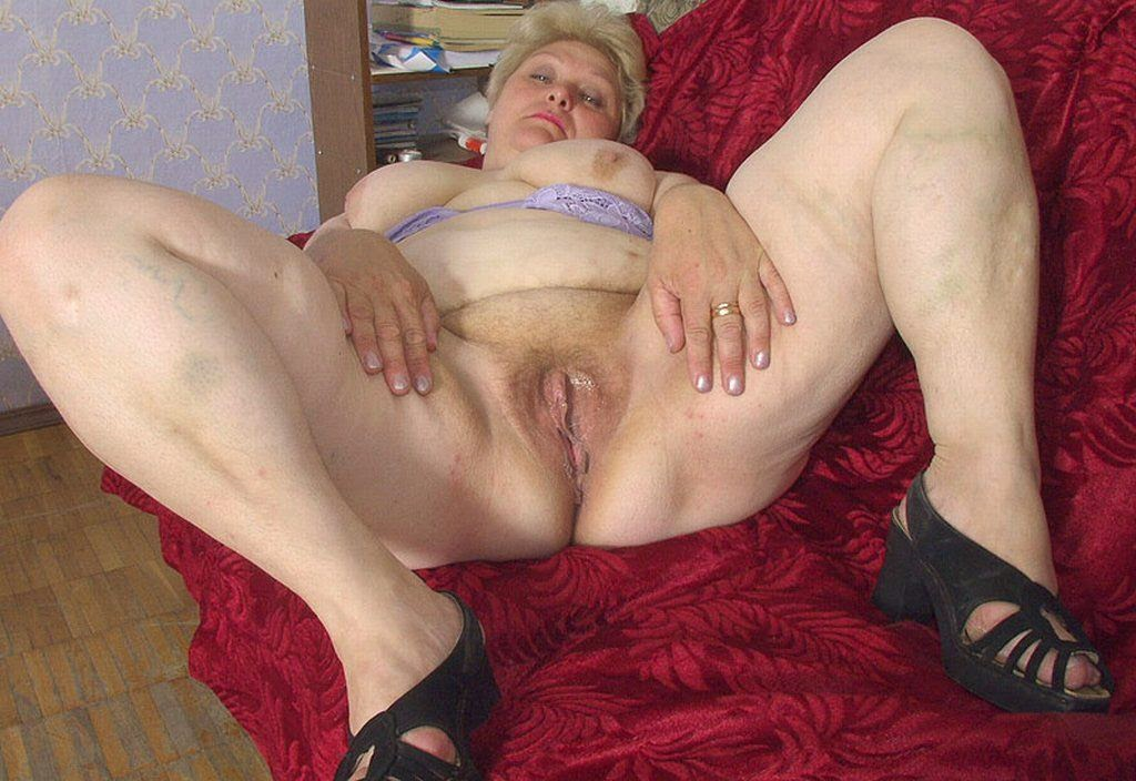 Mature old fat granny pussy