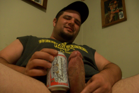Beer can thick cock