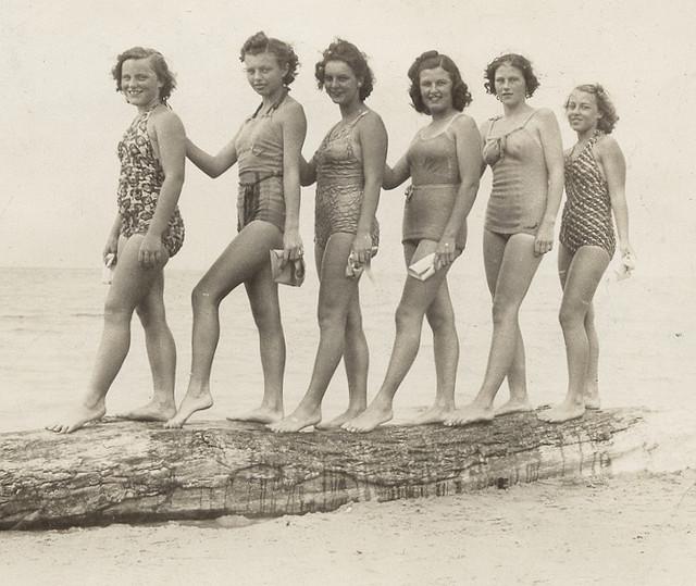 Vintage beach women