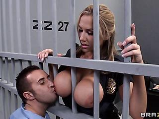 Nice round tit sucking