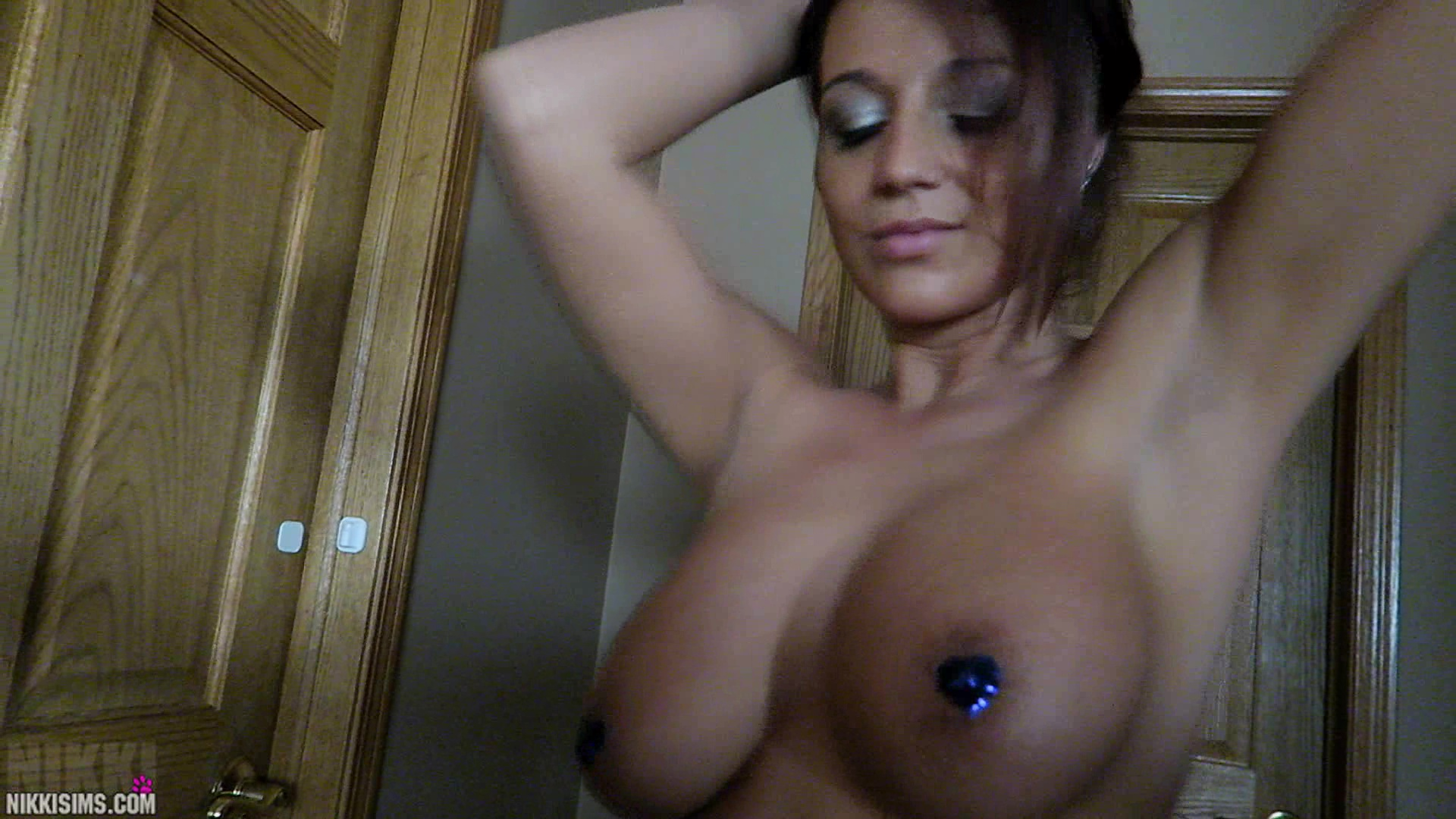 Nikki sims nude shower