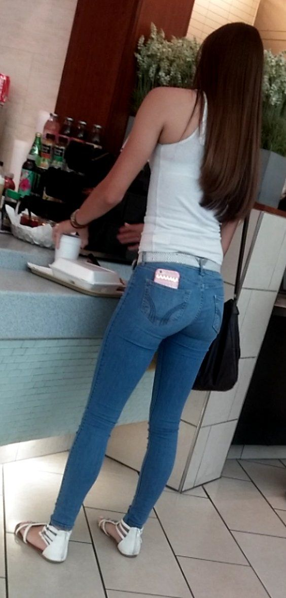 Candid ass in tight jeans girls