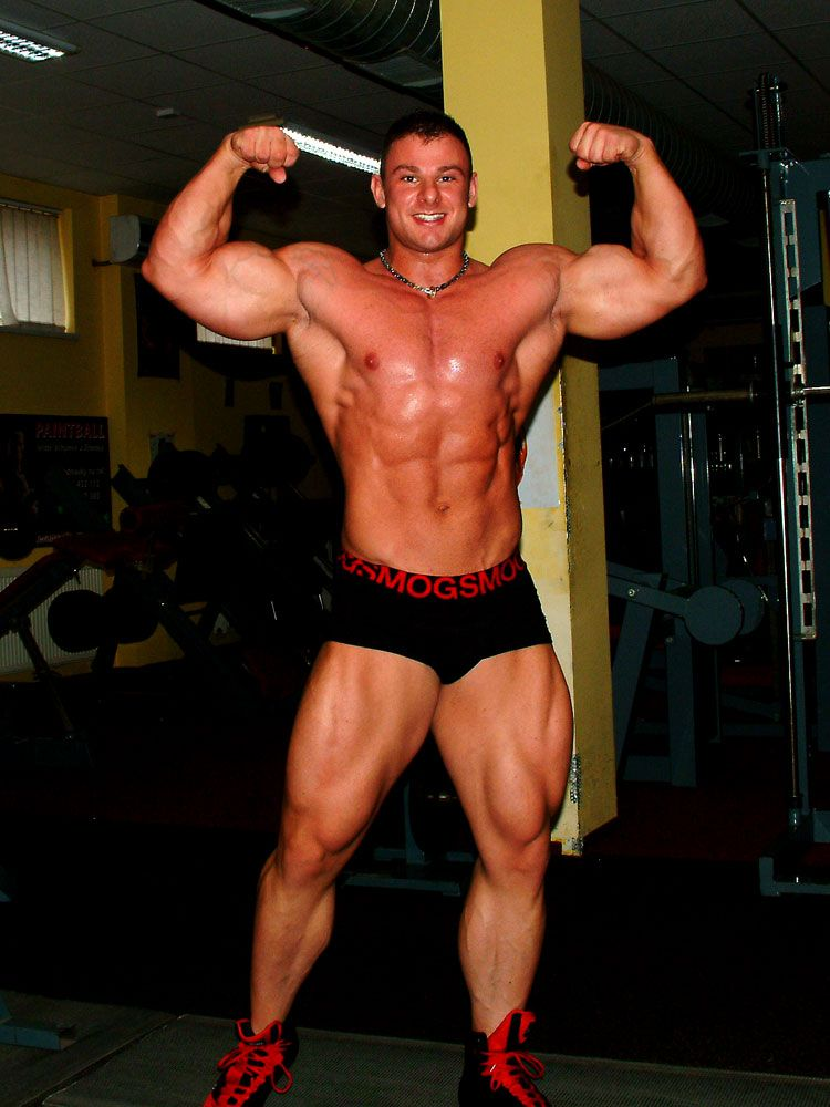 Male bodybuilder jiri borkovec