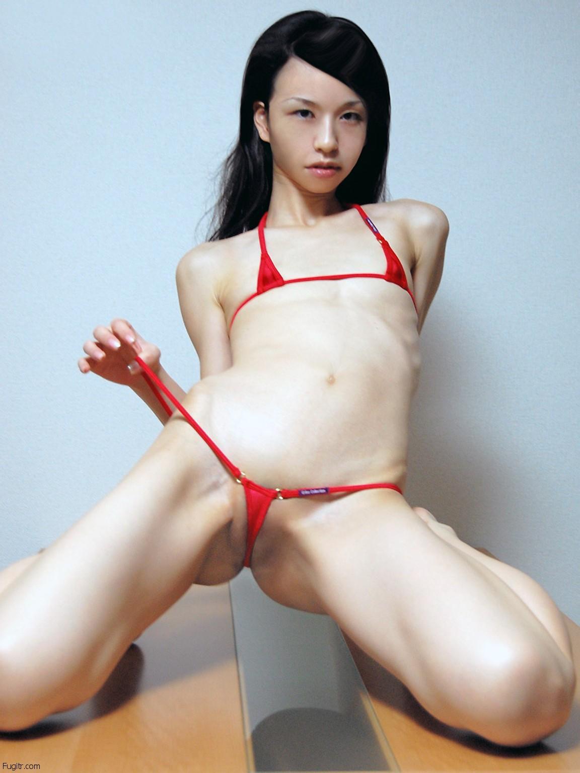 Asian micro bikini tease