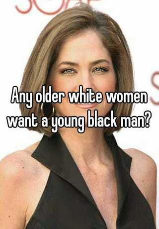 Young man older white woman black