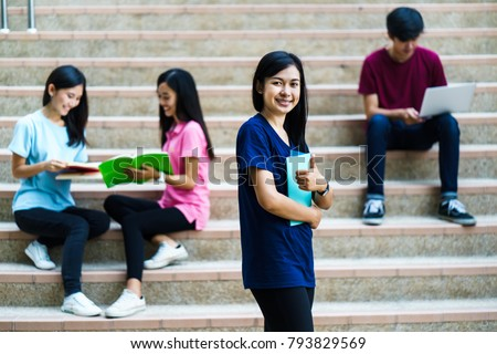 group Asian teen