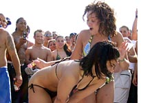 spankings Beach girl