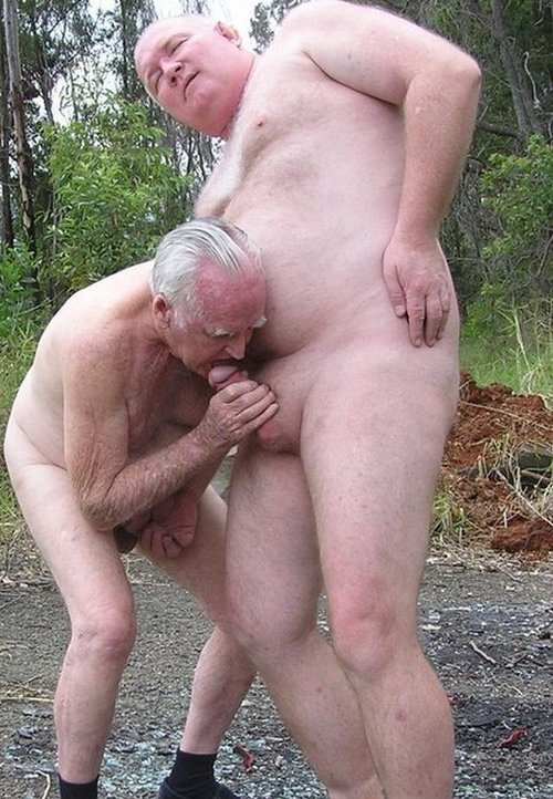 Fat naked old men