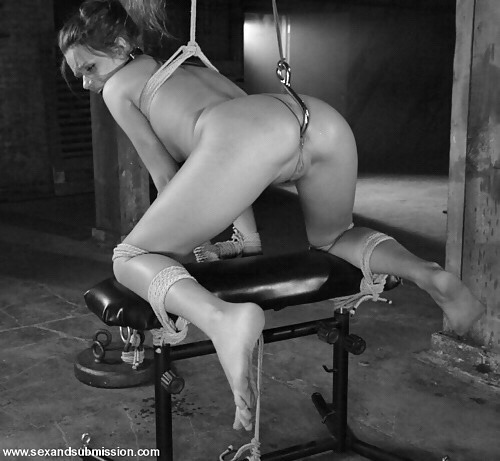 tied spread women Naked bent legs over