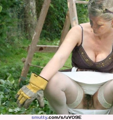 Public down blouse and upskirt