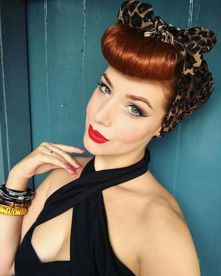 Vintage pin up makeup and hair