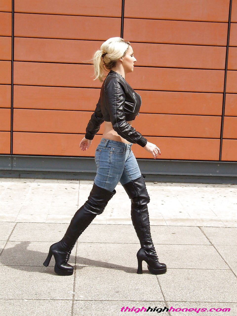 Sexy girls wearing tight jeans and boots