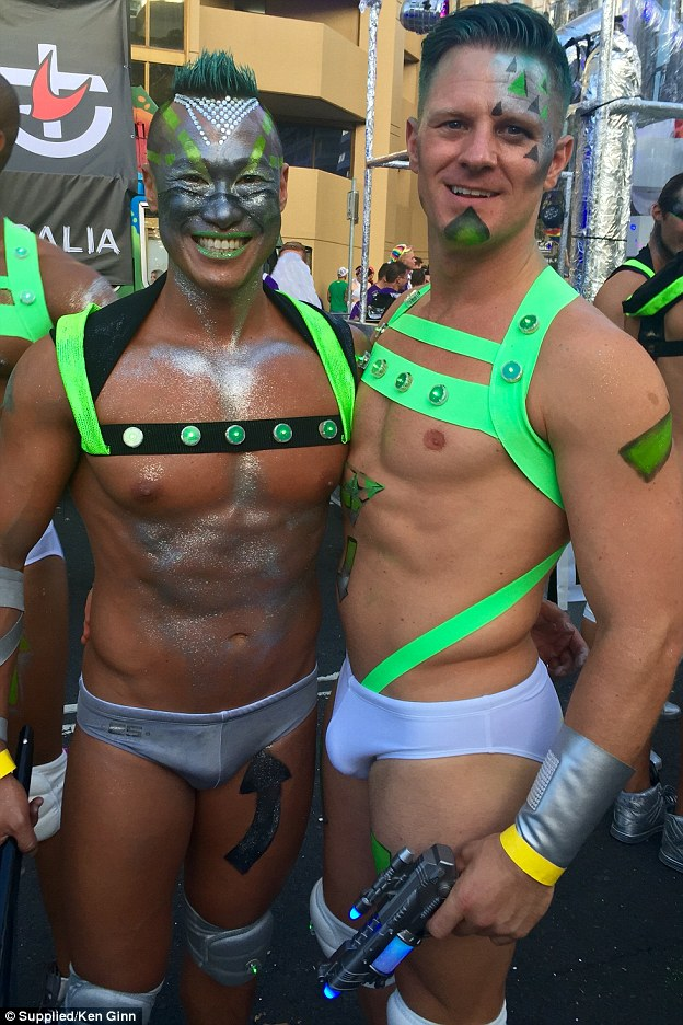 Nude men at mardi gras