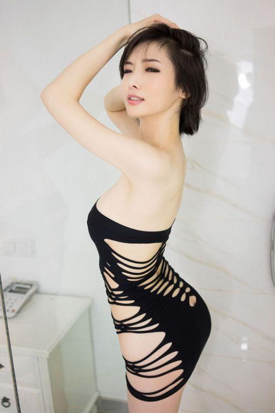 Beautiful asian glamour models