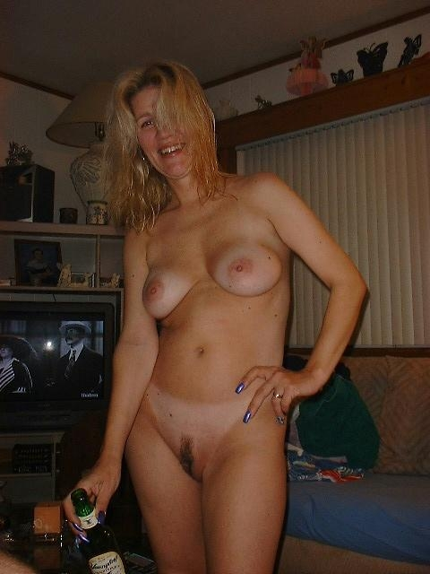 Naked drunk wife