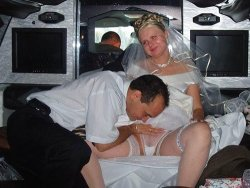 Amateur nude bridal party limo