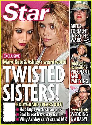 Mary kate and ashley olsen kissing