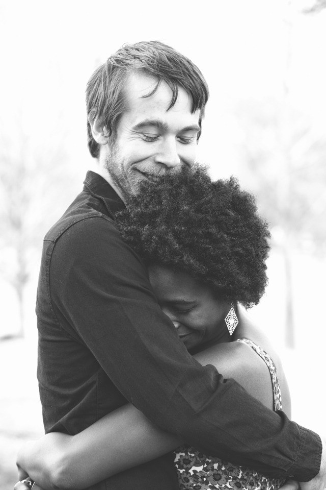 Interracial love photography