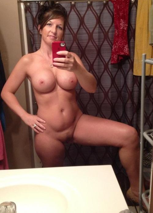 Milf self shot topless