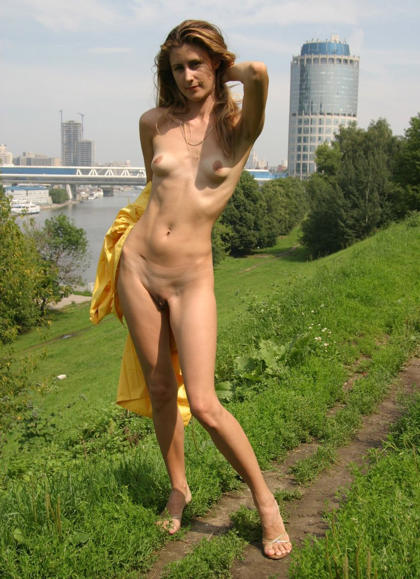 Skinny russian girls nude outdoors