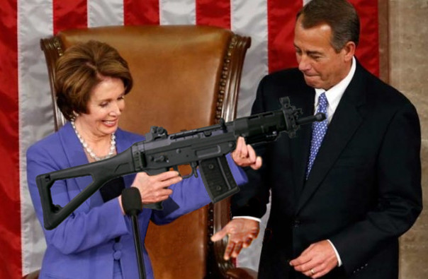 Nancy pelosi with gun