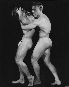 Vintage gay nude wrestling