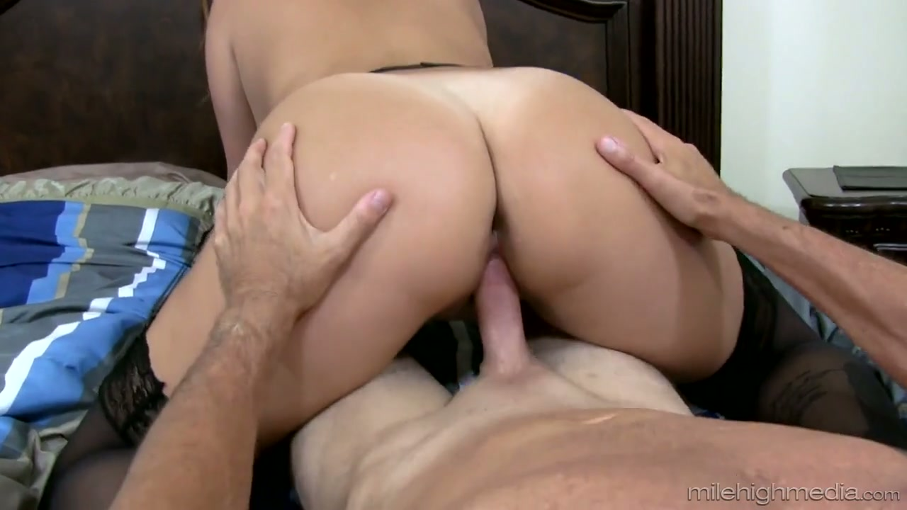 Naked man clothed woman tied up