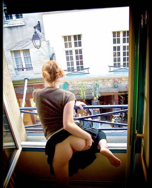 Naked window flashing wives