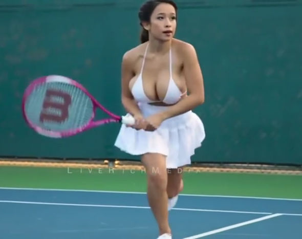 Busty oiled asian girls