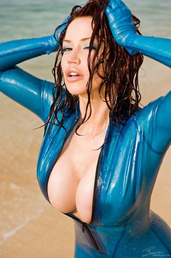 latex Hot boobs girls big