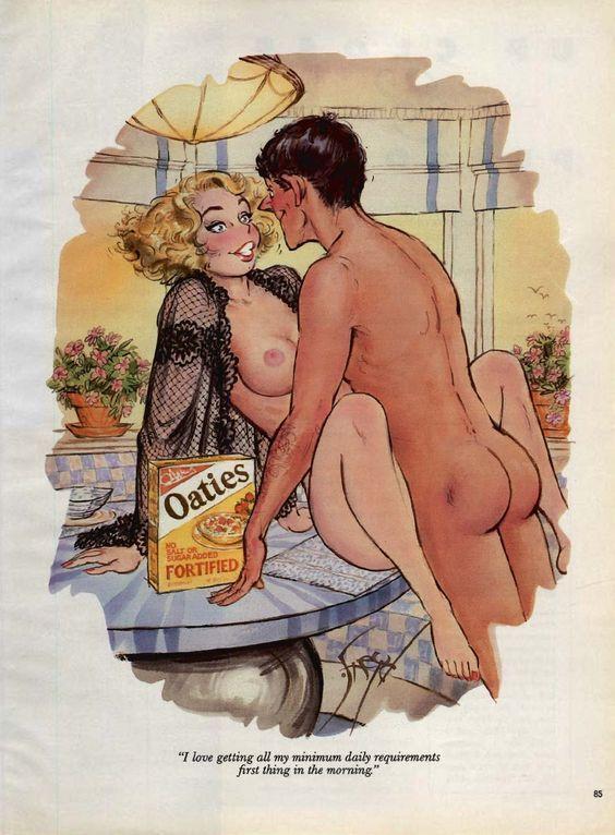 Vintage erotic cartoon sex drawings