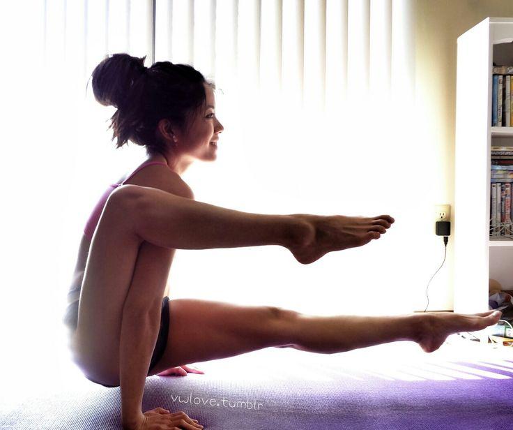 Nude yoga bow pose